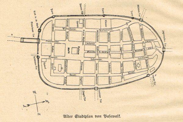 Alter Stadtplan Pasewalk 600x399 - Mecklenburg-Vorpommern, Dargitz, 1923