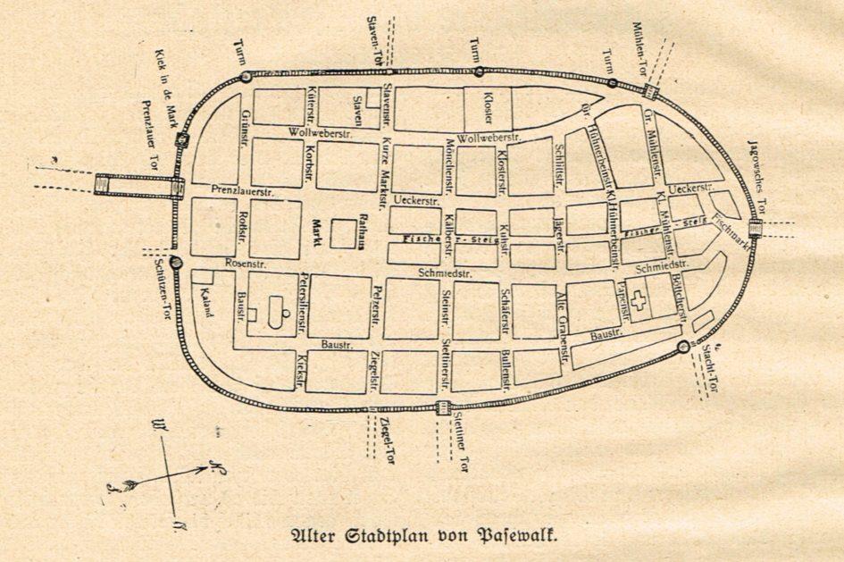 Alter Stadtplan Pasewalk 945x629 - Mecklenburg-Vorpommern, Dargitz, 1923