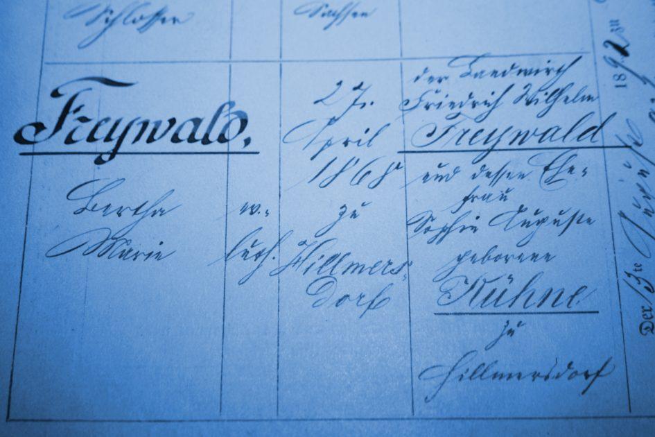 Bertha Marie Freywald 945x630 - Schloßer, Sachsen, Ritter, Leipzig, Landwirth, Kühne, Hillmersdorf, Freywald, Elbe-Elster, Brandenburg, 1938, 1892, 1868, 1865