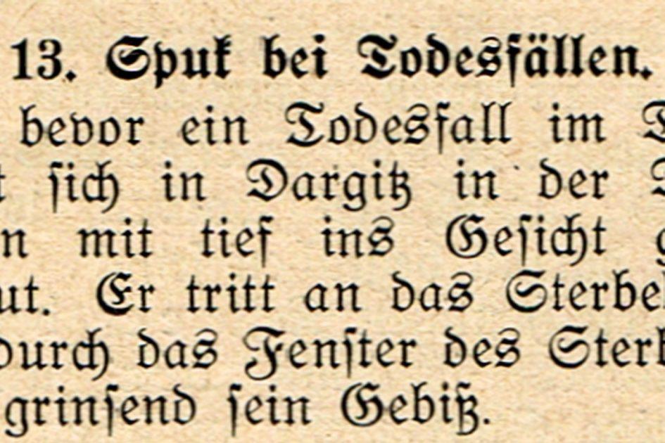 Spuk bei Todesfällen 945x630 - Mecklenburg-Vorpommern, Dargitz