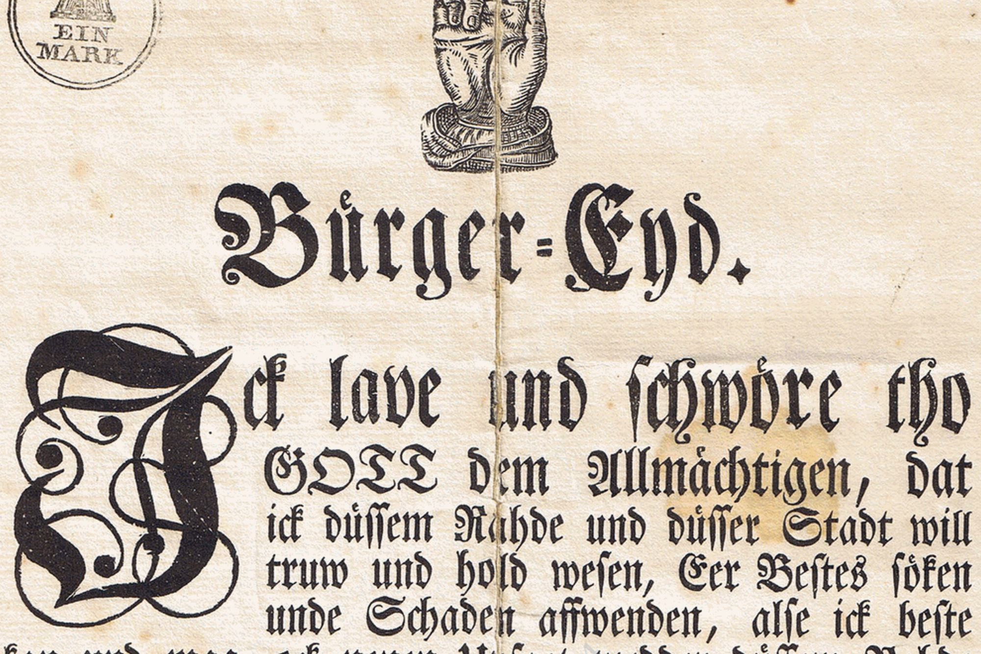 Hamburger Bürgereid - Prickett, Killea, Hamburger Bürgereid, Hamburger Bürger-Eyd, Hamburg, 1843