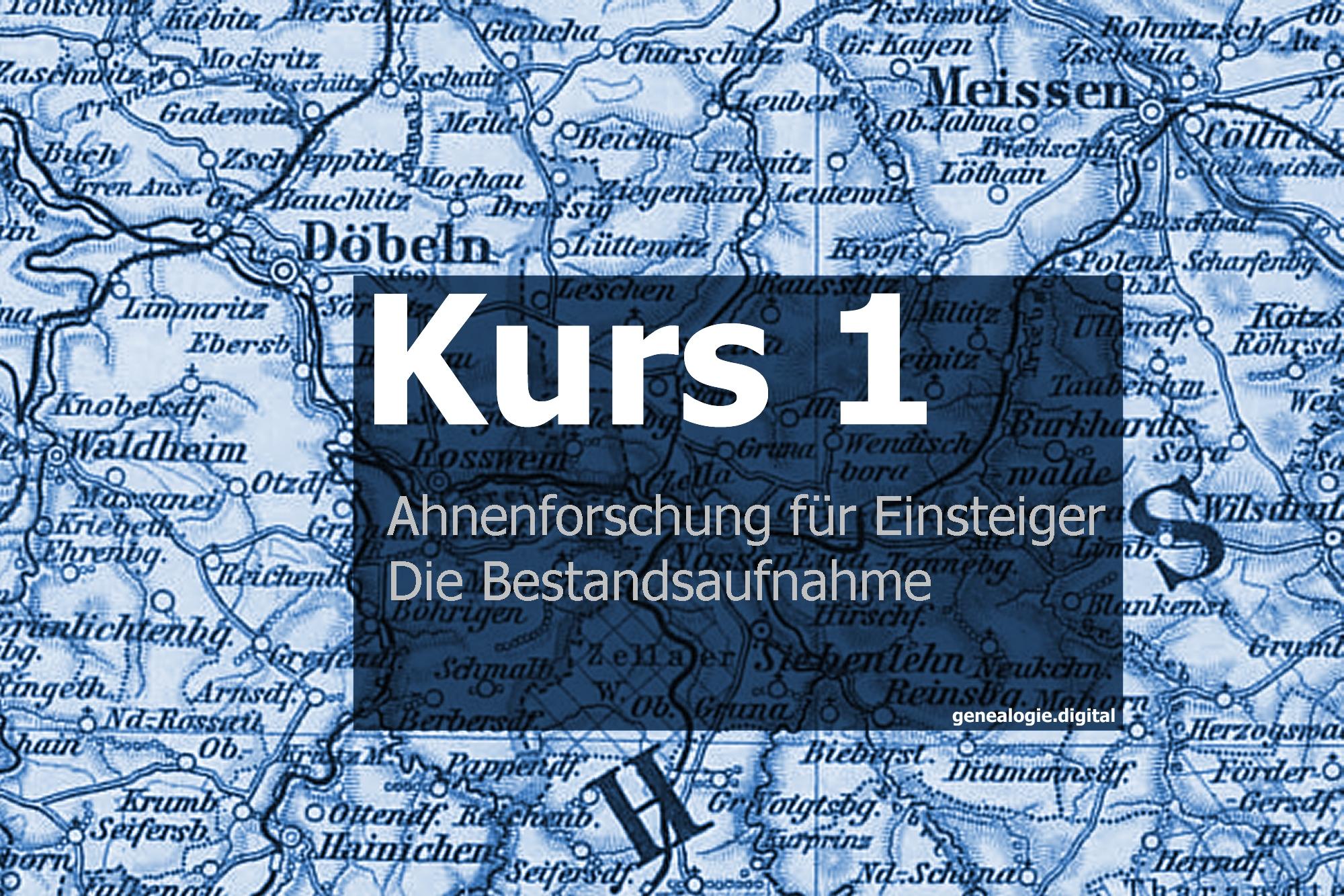 Kurs1 DieBestandsaufnahme - Sosa, OnlineKurs, Kekule, Friedhof, Ahnentafel