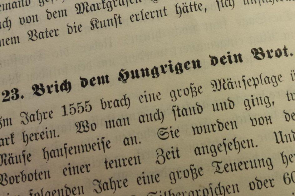Paul Biens Brich dem Hungrigen dein Brot 945x630 - Silbergroschen, Schlangenbiss, Neumark, Mäuseplage, Erntesegen, Edelfrau, 16. Jahrhundert