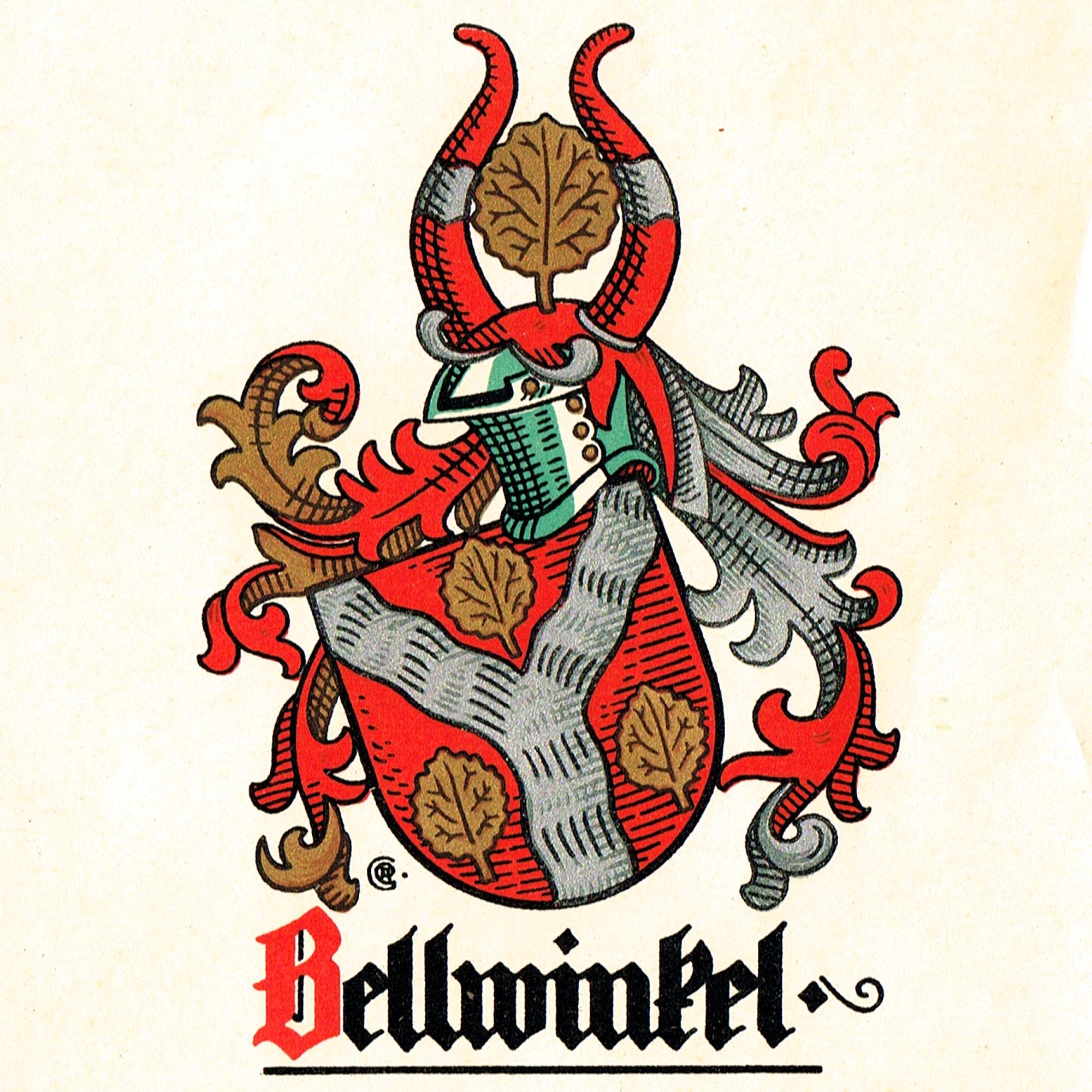 Wappen Bellwinkel - Wappen, Heraldik, Gustav Adolf Cloß, Ernst Bellwinkel, Deutsche Roland-Wappenrolle, Der Deutsche Roland, Bellwinkel, 1936