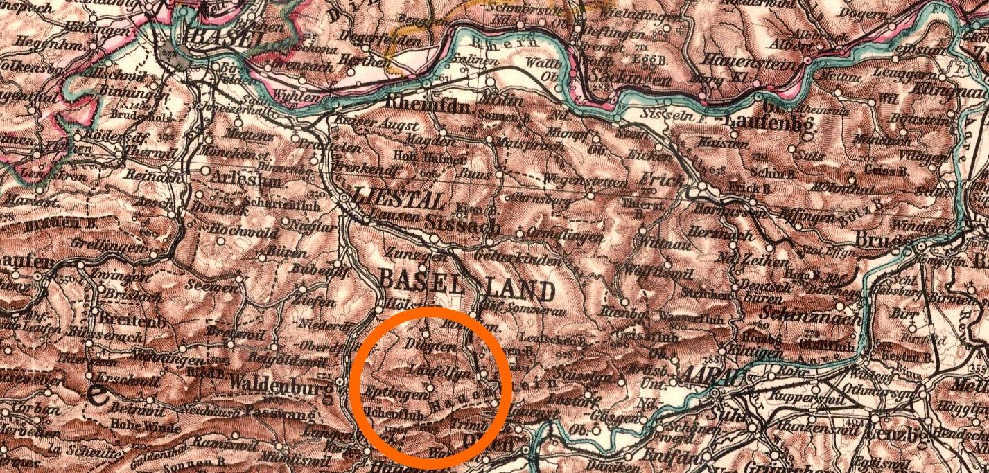 Läufelfingen - Schweiz, Nüsperli, Liestal, Läufelfingen, Kanton, Heinrich Buser, Heimatkunde, Finanzsekretär, 1865, 1863, 1862