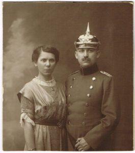 Frieda Koeppen und Walter Maas 265x300 - Stettin, Pommern, Pickelhaube, Maas, Köppen, Hinterpommern, Festzeitung, Breslau, Altdamm, 1913