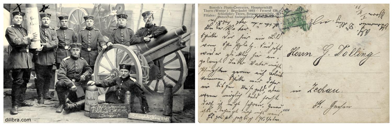 Postkarte Wilhelm Dolling Gnesen - Westpreußen, Thorn, Provinz Posen, Gnesen, Feldpost, Dolling, 1913, 1. Weltkrieg