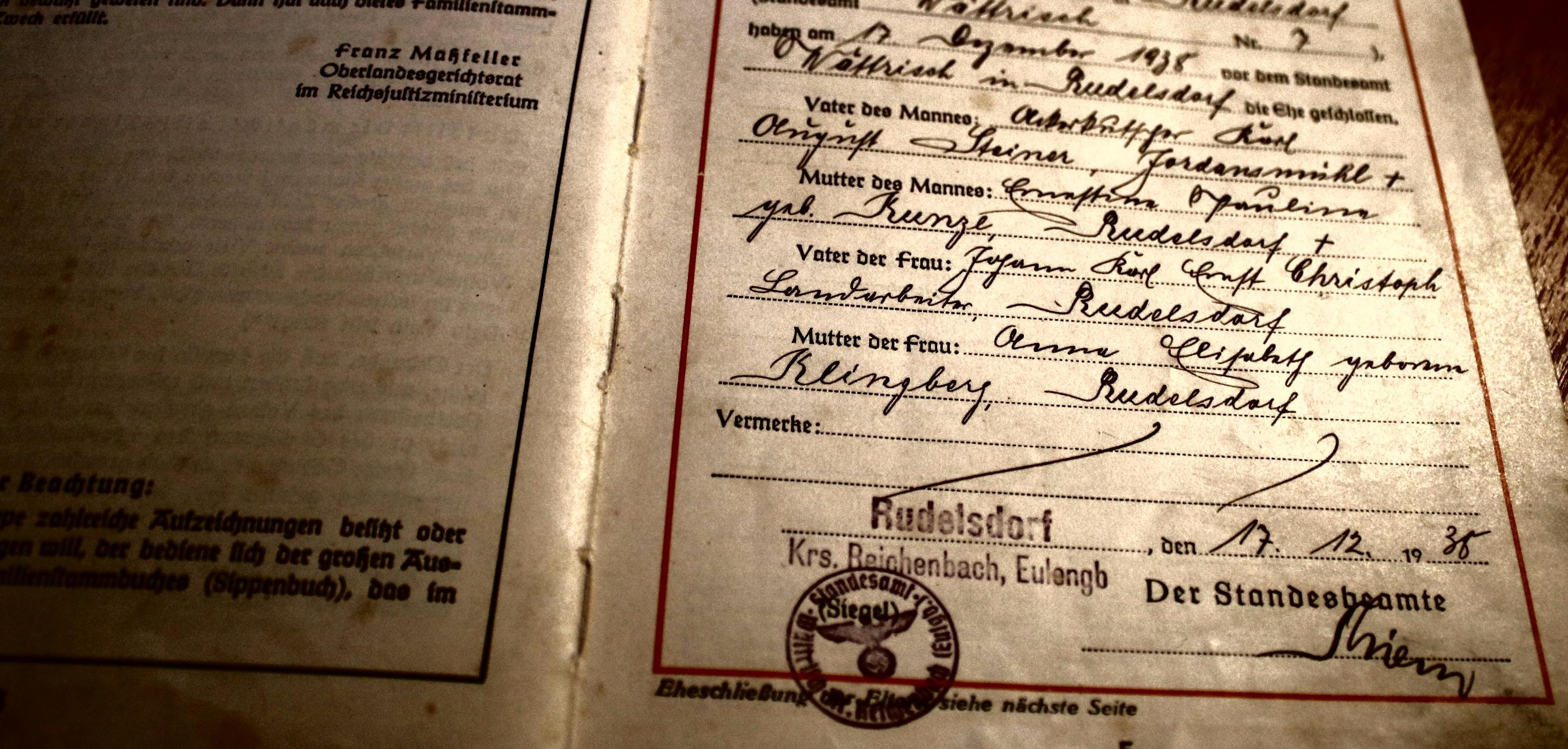 Ahnenforschung steiner christoph - Steiner, Schlesien, Rudelsdorf, Niederschlesien, Landarbeiter, Kunze, Kreis Reichenbach, Klingberg, Jordansmühl, Christoph, Ackerkutscher, 1938, 1915, 1913