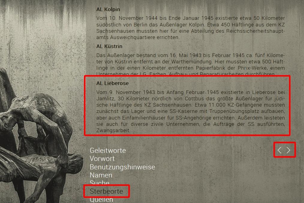 Totenbuch KZ Sachsenhausen Sterbeorte - Stiftung Brandenburgische Gedenkstätten, Roger Bordage, Pierre Gouffault, Opfer des Nationalsozialismus, Nationalsozialistische Deutsche Arbeiterpartei, Konzentrationslager, Gedenkstätte und Museum Sachsenhausen