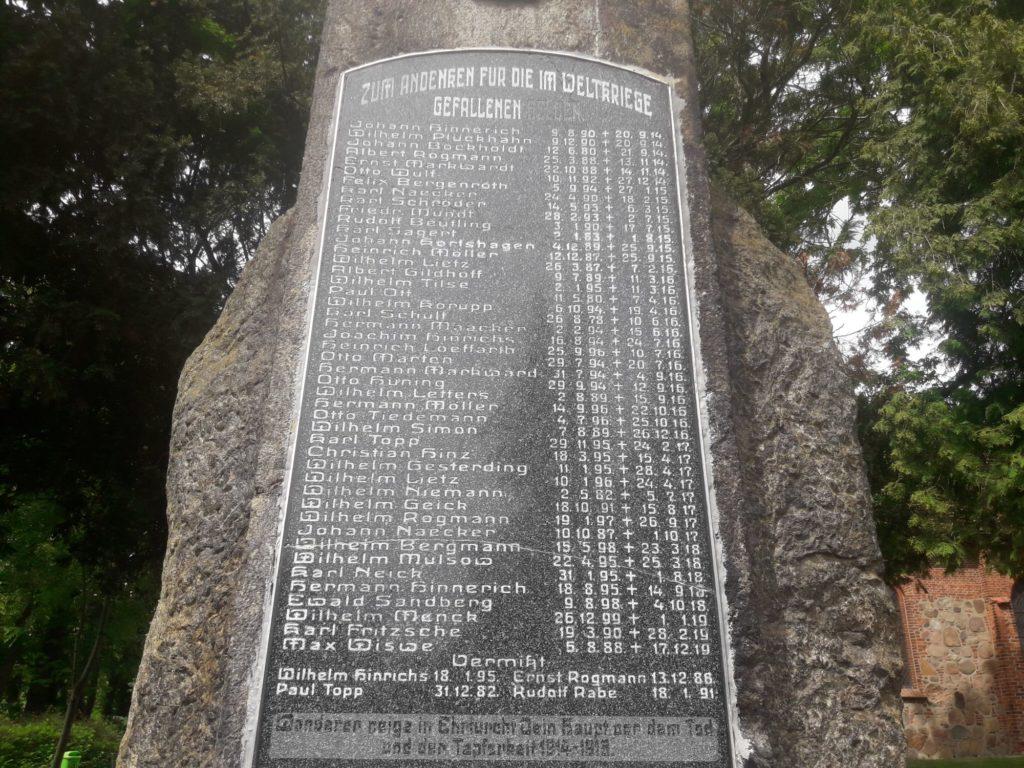Gefallenendenkmal Ahnenforschung Spornitz Parchim 09 1024x768 - Spornitz, Mecklenburg-Vorpommern, Gefallene, 2. Weltkrieg, 1919, 1918, 1917, 1916, 1915, 1914, 1. Weltkrieg